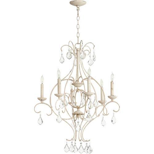 Quorum International Ariel Persian White Six-Light 25-Inch Chandelier