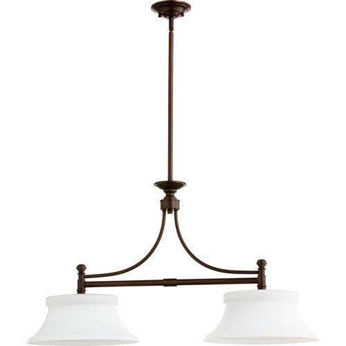 Quorum International Rossington Oiled Bronze Two-Light 14-Inch Island Pendant