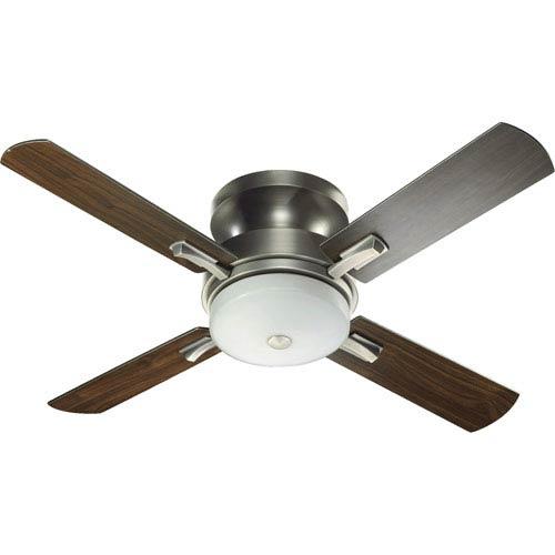 Davenport Three-Light Antique Silver 52-Inch Ceiling Fan
