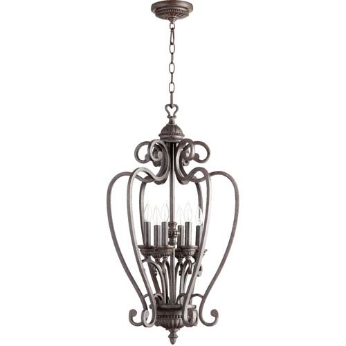 Quorum International Summerset Toasted Sienna 17.25-Inch Six Light Entry Fixture
