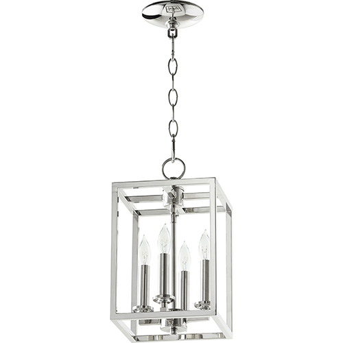 Polished Nickel Four-Light 8-Inch Mini Pendant