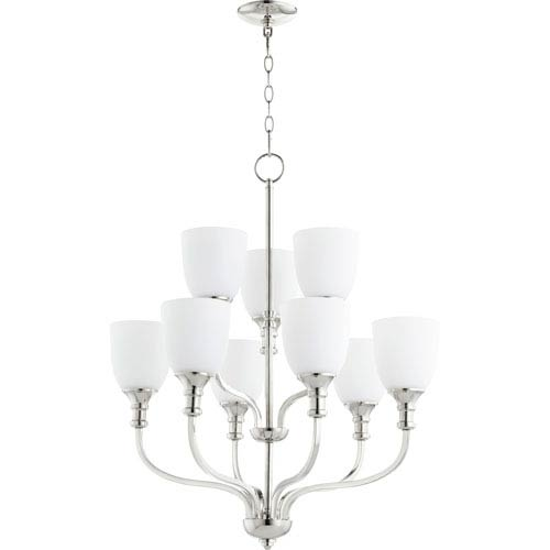 Richmond Polished Nickel Nine-Light 26-Inch Chandelier