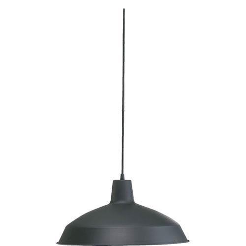 One-Light Matte Black Pendant