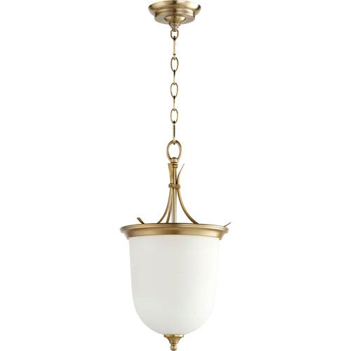 Flora Aged Brass Two-Light 11-Inch Pendant
