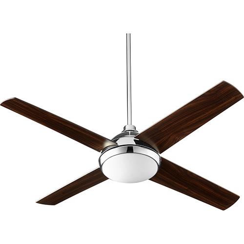 Quorum International Quest Polished Nickel LED 52-Inch Ceiling Fan