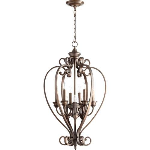 Quorum International Bryant Oiled Bronze 33.5-Inch Nine Light Entry Light