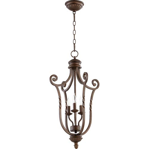 Quorum International Tribeca Ii Oiled Bronze 27-Inch Three Light Entry Fixture