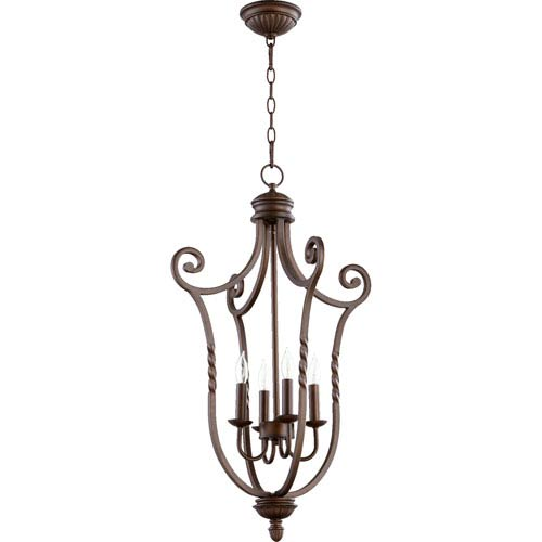 Tribeca Ii Oiled Bronze 31-Inch Four Light Entry Fixture