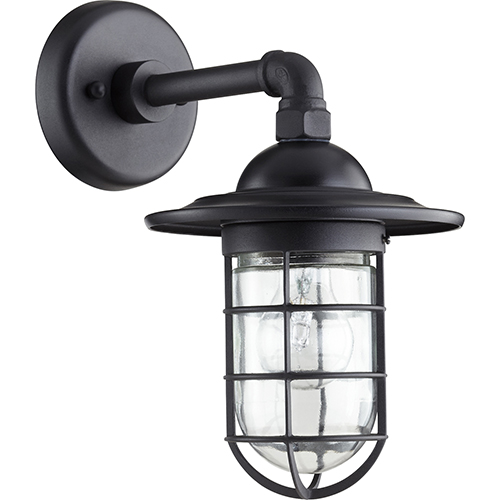 Bowery Black One-Light 7.5-Inch Outdoor Wall Sconce
