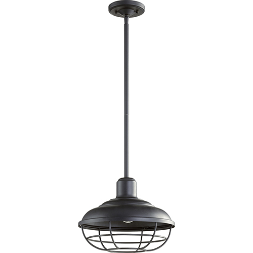 Quorum International Tansley Noir One-Light 12-Inch Outdoor Pendant