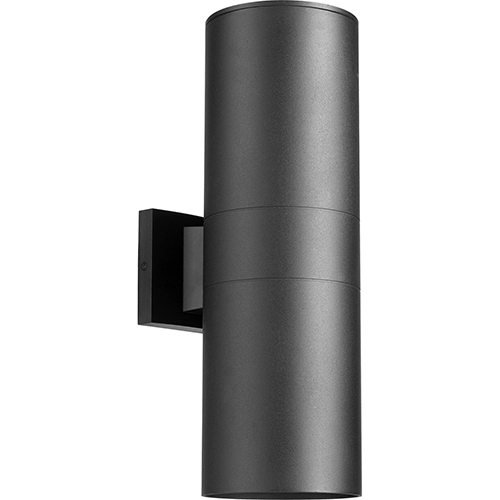 Cylinder Black Two-Light 5.75-Inch Outdoor Wall Sconce