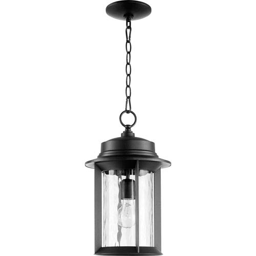 Charter Black One-Light 10-Inch Outdoor Pendant