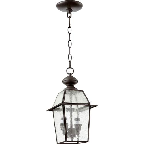 Duvall Bronze 7-Inch Two-Light Outdoor Hanging Lantern