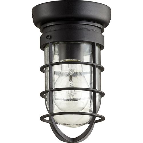 Quorum International Bowery Noir One-Light 4.5-Inch Ceiling Mount