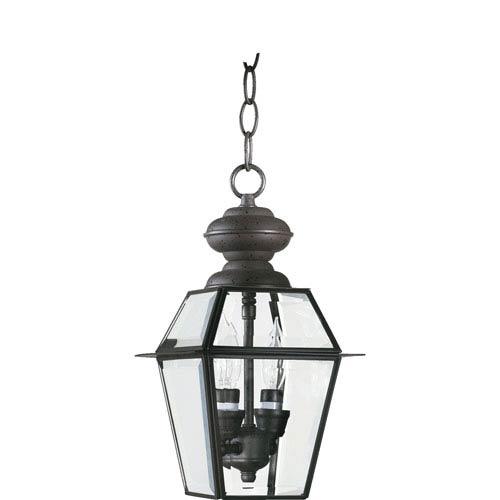 Quorum International Duvall Two-Light Bronze Outdoor Pendant