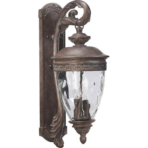 Quorum International Georgia Four-Light Etruscan Sienna Outdoor Wall Light