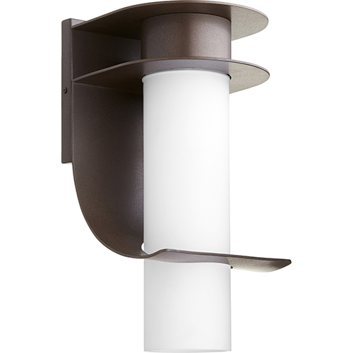 Downing Oiled Bronze One-Light 8-Inch Outdoor Wall Sconce
