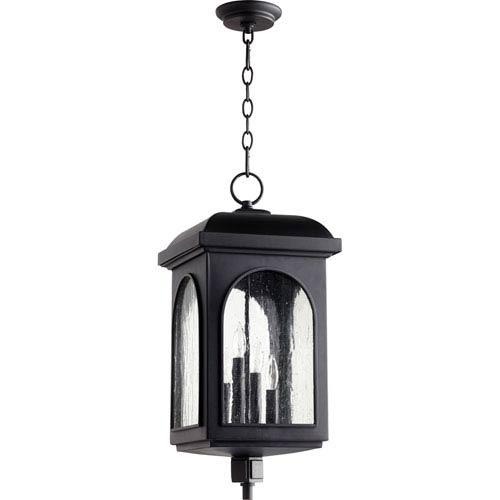 Fuller Black Four-Light 11-Inch Outdoor Pendant
