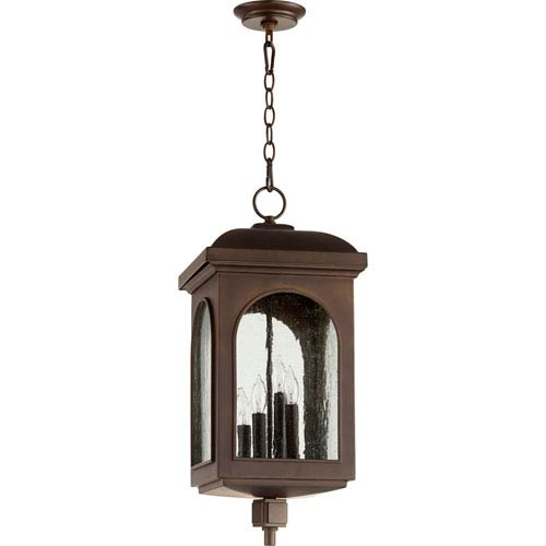 Fuller Oiled Bronze Four-Light 11-Inch Outdoor Pendant Light
