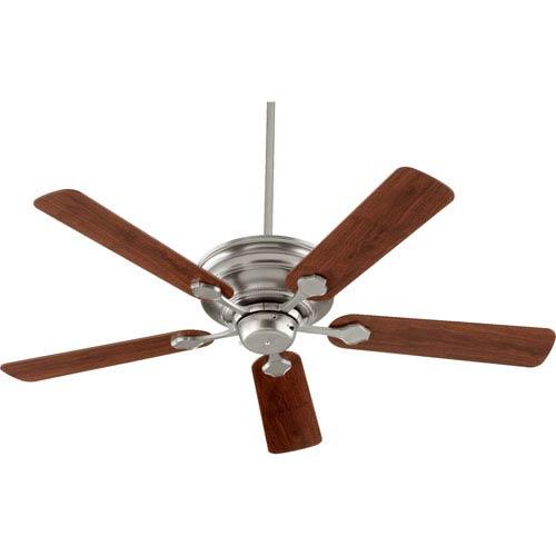 Quorum International Barclay Satin Nickel 52-Inch Five Blade Ceiling Fan