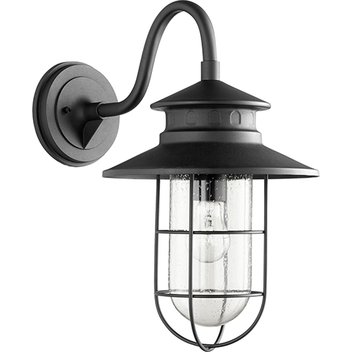 Quorum International Moriarty Noir One-Light 11.25-Inch Outdoor Wall Sconce