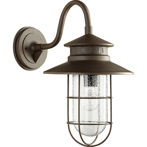 Quorum International Moriarty Oiled Bronze One-Light 11.25-Inch Outdoor Wall Sconce