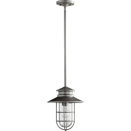 Moriarty Graphite One-Light 9.5-Inch Outdoor Pendant