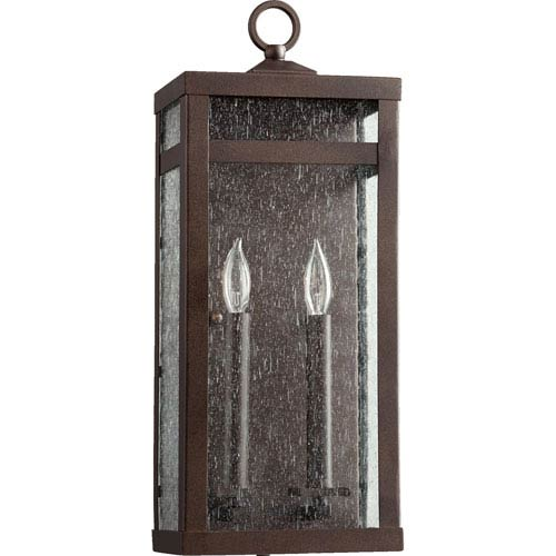 Quorum International Clermont Oiled Bronze Two-Light Outdoor Wall Mount