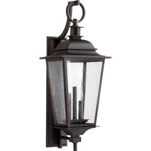 Pavilion Noir Three-Light 12-Inch Outdoor Wall Mount