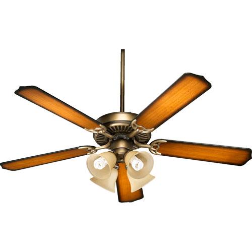 Capri V Antique Flemish Four Light 52-Inch Without Blade Ceiling Fan
