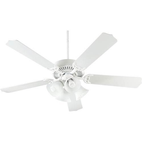 Quorum International Capri Four-Light Studio White 52-Inch Ceiling Fan