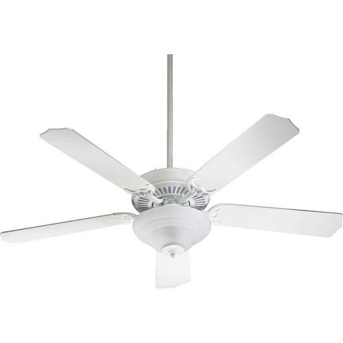 Quorum International Capri Two-Light Studio White 52-Inch Ceiling Fan