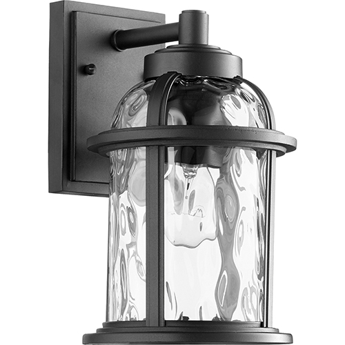 Winston Black One-Light 6.75-Inch Outdoor Wall Sconce