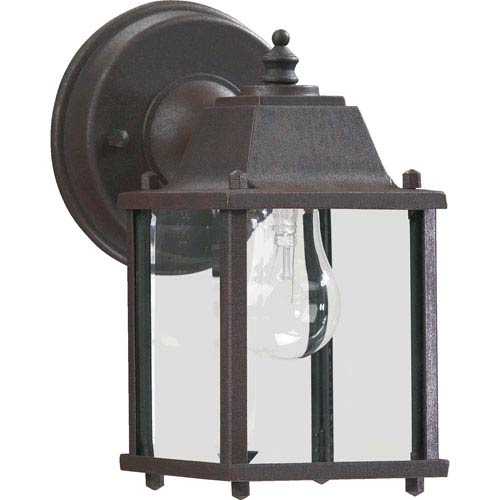 Rust One-Light 10.5-Inch Outdoor Wall Mount