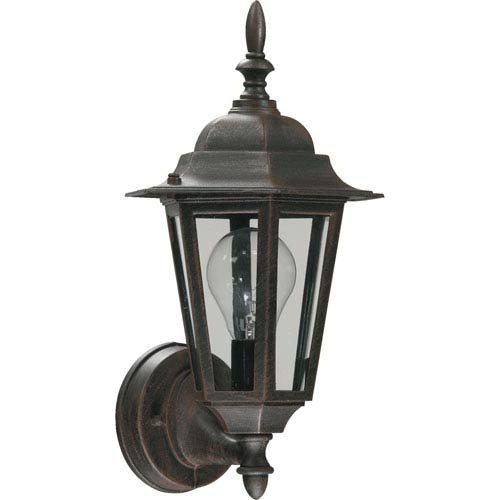 Rust One-Light 16-Inch Outdoor Wall Mount