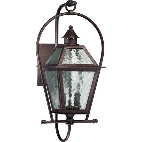 Quorum International French Quarter Two Light Oiled Bronze With Antique Gold Outdoor Wall
