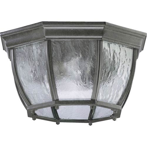 Two-Light Timberland Granite Outdoor Flush Mount