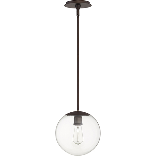 Quorum International Oiled Bronze One-Light 10-Inch Pendant