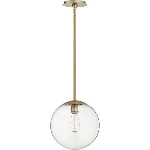 Aged Brass One-Light 12-Inch Pendant