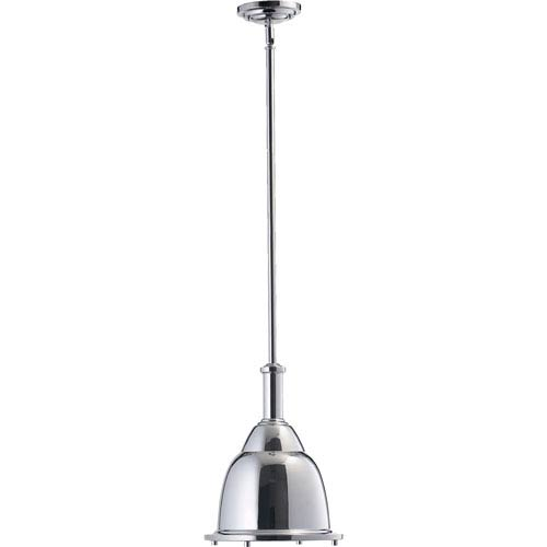 Quorum International One-Light Chrome Dome Pendant