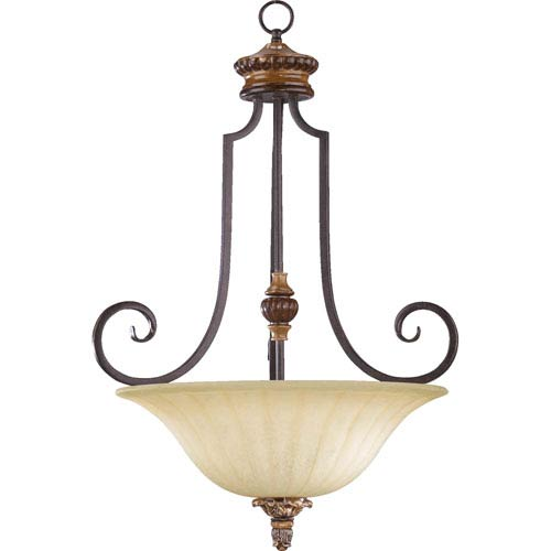 Capella Three-Light Toasted Sienna with Golden Fawn Pendant