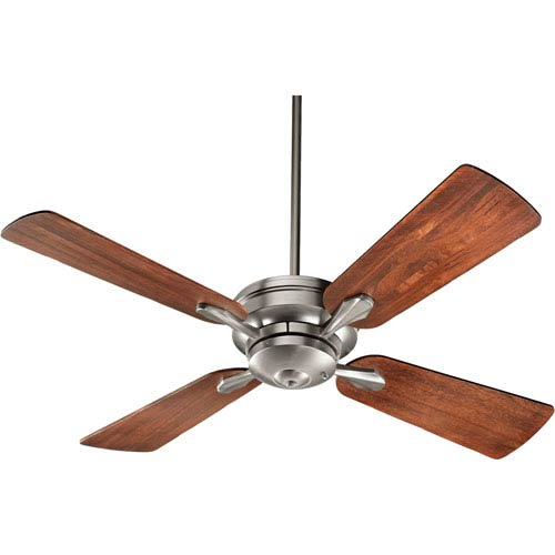 Quorum International Valor Satin Nickel 52-Inch Four Blade Ceiling Fan