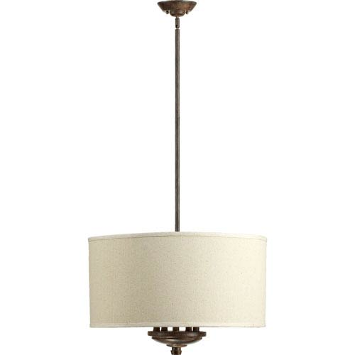 Quorum International Telluride Early American Five Light Pendant with Oatmeal Shade