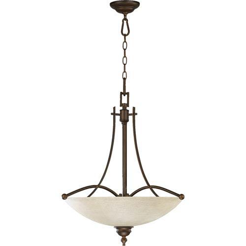 Quorum International Aspen Four-Light Oiled Bronze Pendant