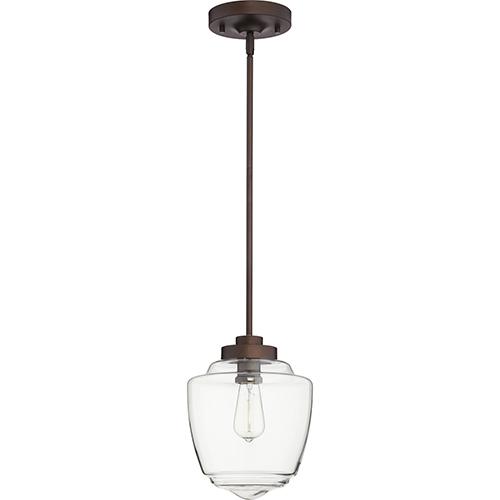 Quorum International Oiled Bronze One-Light 9-Inch Mini Pendant
