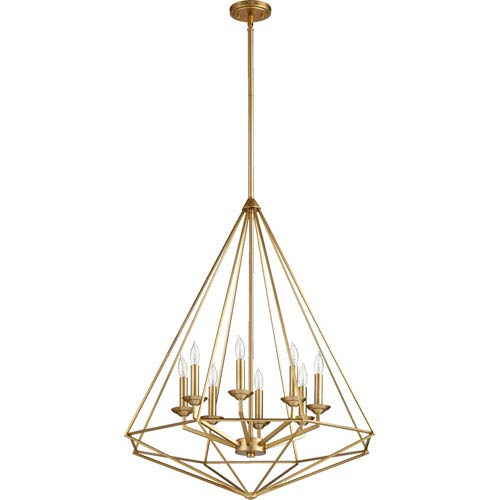 Quorum International Bennett Aged Brass Eight-Light Pendant