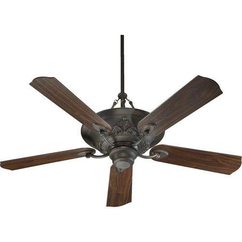 Salon Three-Light Oiled Bronze 56-Inch Ceiling Fan