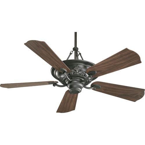 Salon Three-Light Old World 56-Inch Ceiling Fan