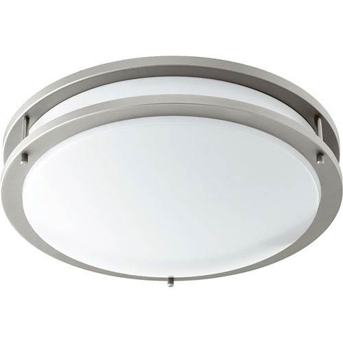Satin Nickel 14.5-Inch One-Light Double Ring LED Flush Mount