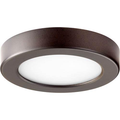 Quorum International Oiled Bronze One-Light 6-Inch LED Flush Mount